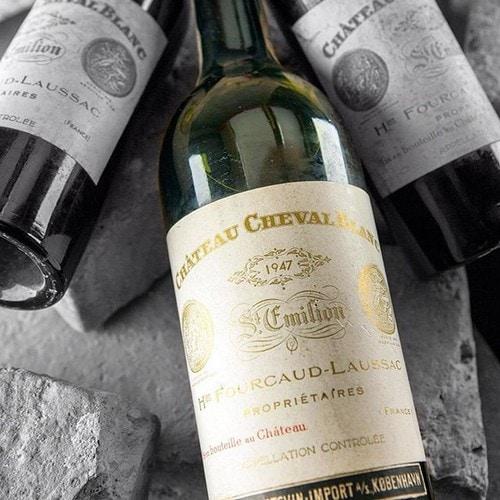 Vins les plus chers Cheval Blanc 1947 Vins de luxe